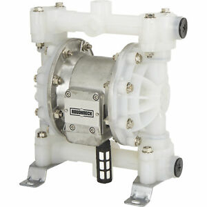 Roughneck Air operated Double Diaphragm Pump 3 4in Ports 16gpm Polypropylene