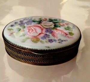 Beautiful Antique Original Perfect Silver Russian 84 Hallmark Enamel Box