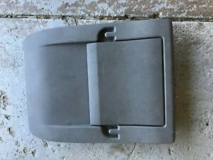 08 10 Chrysler Town And Country Dodge Caravan Front Seat Back Cover Gray Oem