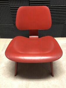 Eames Herman Miller Lcw Lounge Chair Wood Red Stain Dwr