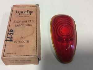 Tail Light Lamp Lens 1939 Plymouth Nors Glass