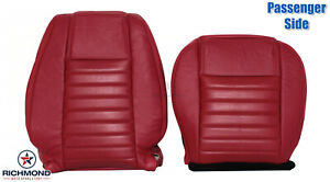2005 2009 Ford Mustang V8 Gt Passenger Side Complete Leather Seat Covers Red
