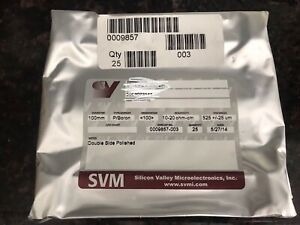 Silicon Wafers 4 Inch 100 Mm 4 1000 Boron Doped 525um Dsp 25pcs Sealed