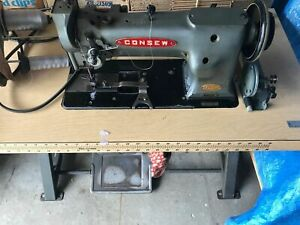 Industrial Sewing Machine Model Consew 225 Single Walking Foot Leather