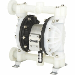 Roughneck Air operated Double Diaphragm Pump 1in Ports 24gpm Polypropylene