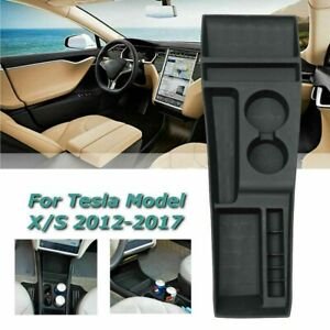 Silicone Center Console Storage Box Container For Tesla Model X S 2012 2017 2018