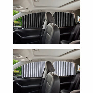 4pcs Magnetic Car Side Front Rear Window Sun Shade Cover Uv Protection Curtains
