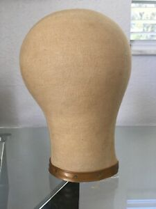 Millinery Cloth Canvas Mannequin Head Form Hat Wig Block Holder 21
