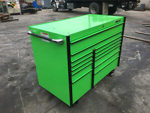 Snap On 13 Drawer Tool Box Roll Cab Extreme Green W Tools Masters Series Krl1022
