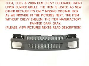 2004 2005 2006 Chevy Colorado Front Upper Bumper Grille 12335789