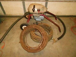Ridgid Kollmann Km 1500 Drain Cleaning Machine Sewer Snake With Cable And Hose
