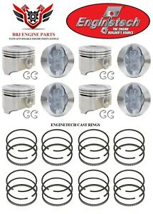 Ford Mercury 390 Fe V8 Enginetech Pistons With Rings 1968 1976 030 040 060