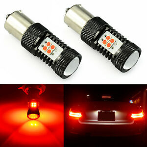 Jdm Astar 2x Red 1156 14smd Rear Led Car Auto Tail Brake Stop Light Bulbs 1600lm