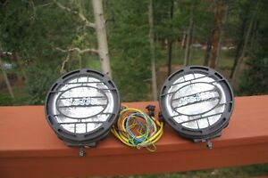 Hella Rallye 4000 Driving Lamps Fog Light Off Road Metal With Wiring