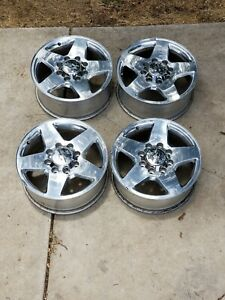 20 Chrome Alloy Wheels Off Of A Chevy 2500 Hd Silverado Pickup Great Condition