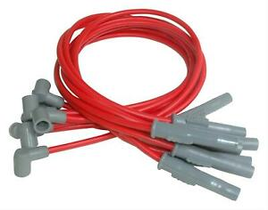 Msd Spark Plug Wires Spiral Core 8 5mm Red Boots Chevy Gmc Big Block V8 31379