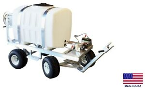 Sprayer Commercial Trailer Mounted 12v Electric Pump 200 Gallon Tank