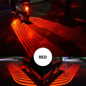Red Led Angel Wings Projector Motorcycle Car Courtesy Shadow Welcome Side Light