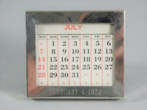Gorham Sterling Silver Desk Calendar W All Months And Days