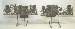 Antique Neo Classical Bronze Or Brass Candle Sconces