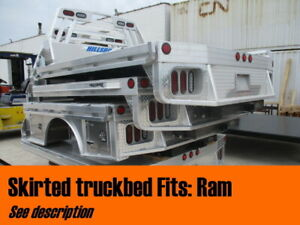 Hillsboro Skirted W Tool Boxes Aluminum Flatbed Fold Dn Sides Dually Ram 43687