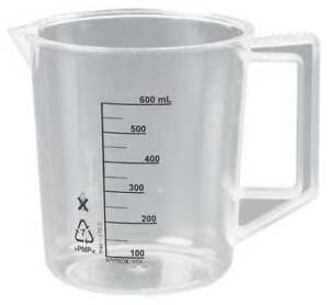 Lab Safety Supply 23x907 Beaker With Handle 500ml poly pk6