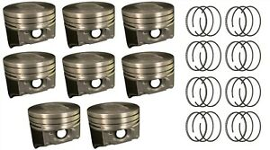Sealed Power Ford 460 V8 Hypereutectic Dish Top Pistons Hastings Rings 88 92