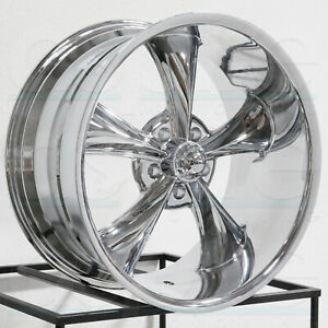 20x8 5 Ridler 695 5x4 75 5x120 65 0 Chrome Wheels Rims Set 4