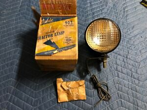 Nos Light Guide Tractor Lamp Vintage Ih Ihc John Deere Farmall Crawler Dozer Old