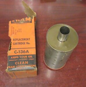 Vintage Fram New C 136a International Harvester 210 301 311 Engine Oil Filter