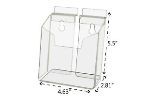 Post Card Holder Literature Display Rack Slatwall Vertical Clear Acrylic Qty 6
