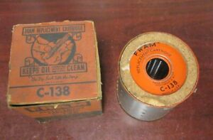 Vintage Fram New C 138 John Deere 1010c 1010l Oil Filter