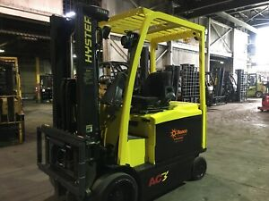 Hyster 6500 Lb Electric Forklift With 2 Stage Mast Side Shift And 4 Way
