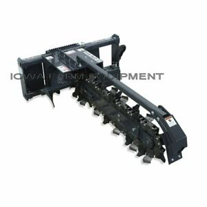 Skid Steer Trencher Virnig 48 x6 tes Dirt Chain Standard Flow Up To 25gpm