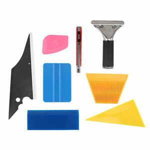 7 In 1 Car Window Film Tools Squeegee Scraper Set Tinting Kit Auto Home Tint New