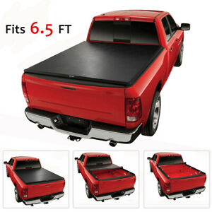 Tonneau Cover Hidden Roll Up For Chevy Gmc Sierra Silverado Fleetside 6 5ft Bed