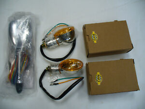 A5007 Universal Turn Signal Switch And 2 Turn Signal Lights Hot Rod Rat Rod