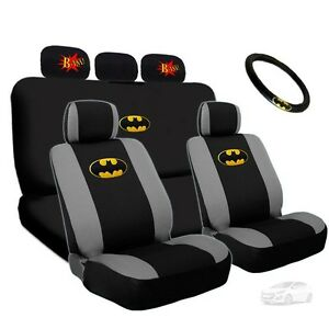 For Hyundai Deluxe Batman Seat Steering Covers Classic Bam Headrest Cover Set