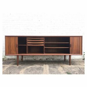 Mid Century Modern Sideboard Danish Teak Server Buffet Made In Denmark Console