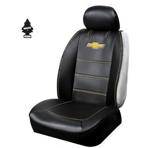 Brand New Chevy Synthetic Leather Sideless Car Truck Front Seat Cover With Gift