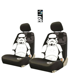 For Subaru 3pc Star Wars Stormtrooper Car Seat Cover With Keychain Set