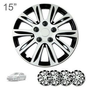 For Ford New 15 Abs Silver Rim Lug Steel Wheel Hubcaps Cover 547