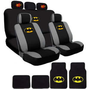 For Mazda Ultimate Batman Seat Steering Mats Classic Bam Headrest Covers Set