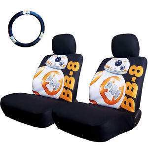For Kia New Disney Star Wars Bb 8 Car Seat Steering Wheel Cover Set
