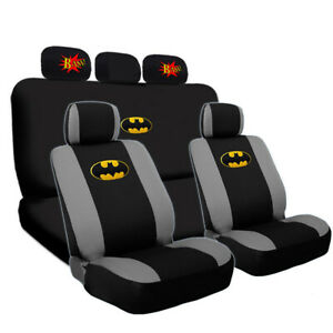 For Jeep Deluxe Batman Seat Steering Covers Classic Bam Headrest Cover Set