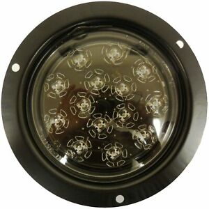 Autosmart Kl 25105c R Red Flush Mount Led Stop Turn Tail Light With Clear Lens