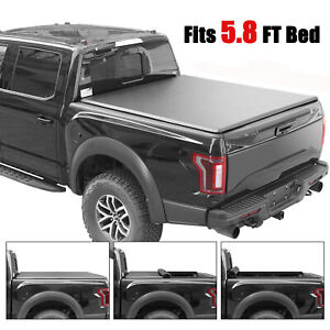 5 8ft Tonneau Cover Roll up For 14 18 Chevy Silverado 1500 Lt Short Bed Truck
