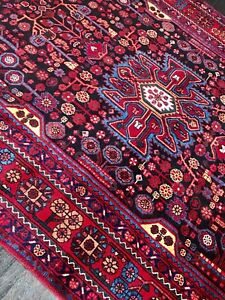 C 1950 Stunning Antique Exquisite Hand Made Rug 5 5 X 9 9
