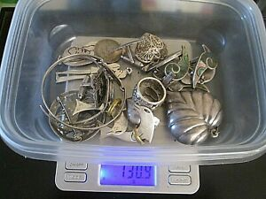 Assorted Lot Sterling Silver Jewelry Many Items 130 9 Grams Or 4 20 Oz