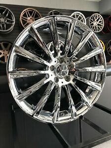 20 Staggered Chrome S63 Amg Style Rims Wheels Fits Mercedes Benz S450 S550 S600
